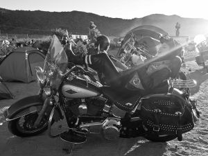 A rider at Babes Ride Out.