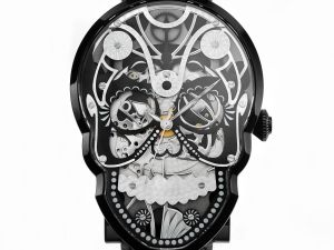 A signature skull watch.
