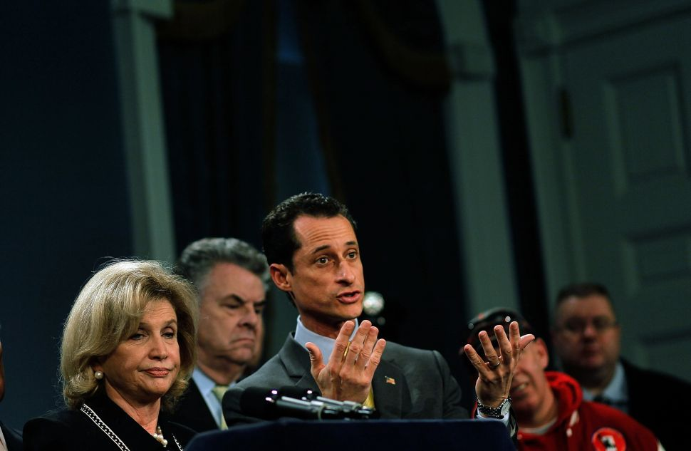New York GOP Congressman Calls Anthony Weiner a 'Nightmare That Just Keeps on Coming'