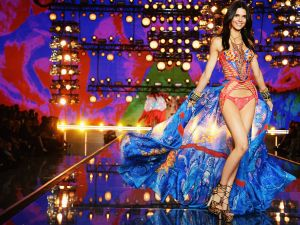Kendall Jenner at the 2015 Victoria's Secret Fashion Show.
