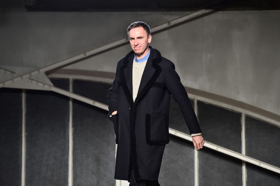 Raf Simons Will Be Showing at NYFW: Men's This February