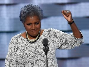 DNC Vice-Chair Donna Brazile gestures during Day 2 of the Democratic National Convention at the Wells Fargo Center in Philadelphia, Pennsylvania, July 26, 2016.