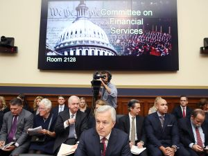 John Stumpf, Chairman and CEO of the Wells Fargo & Company, testifies before the House Financial Services Committee.