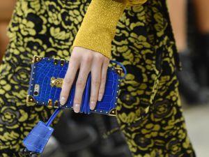 Louis Vuitton's iPhone case in blue crocodile.