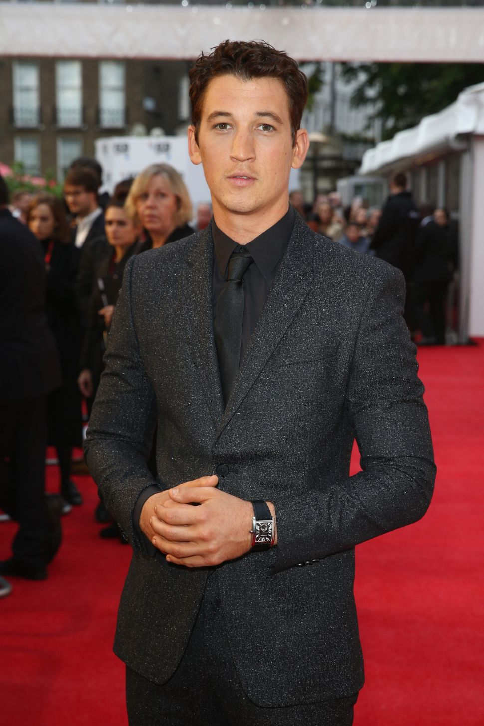 Miles Teller Demonstrates the Proper Way to Wear a Grey Suit