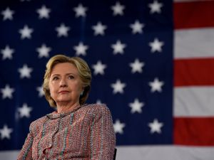 Democrat Presidential nominee Hillary Clinton speaks during a event on climate change at Miami Dade College-Kendall Campus in Miami, Florida October 11, 2016. / AFP / TIMOTHY A. CLARY