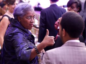 "Democratic National Committee Interim Chairperson Donna Brazile attends the BET's 'Love and Happiness: A Musical Experience"" in a tent on the South Lawn of the White House October 21, 2016 in Washington, DC."