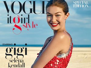 Gigi Hadid on the cover of VOGUE, It Girl Style.