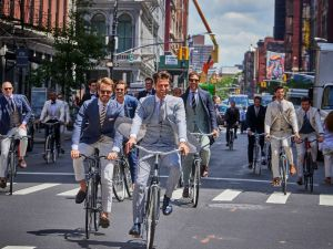 A troupe of Suitsupply men.