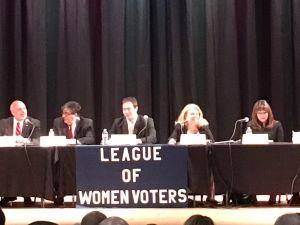 Candidates represented three parties: Democratic, Republican and Libertarian.