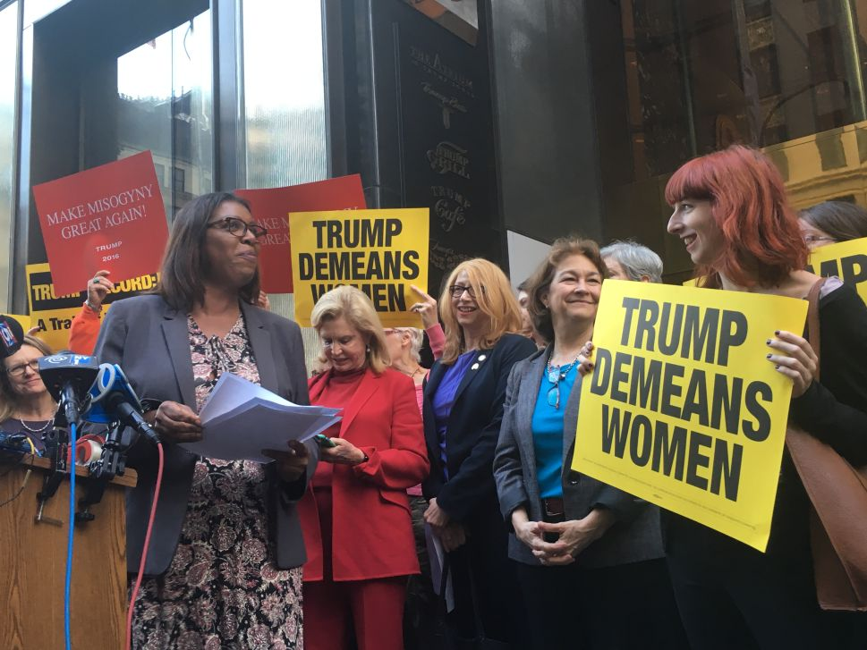 New York's Female Dems Rip Donald Trump's 'Disgusting Record of Sexual Misconduct'