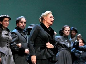 "Karita Mattila as Kostelnicka in 'Jenufa"" at the Met."