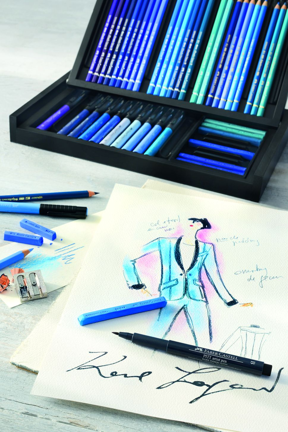 Sketch Like Karl Lagerfeld With This $2,850 Art Box