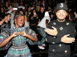 Lupita Nyong'o and Chance the Rapper.
