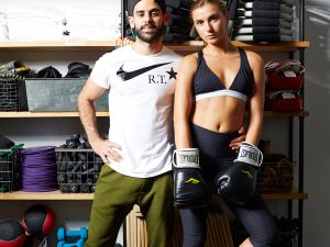 ModelFit instructors Javier Perez and Lilli Van Hall.