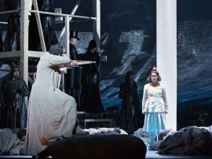 Janai Brugger as Jemmy and Gerald Finley in the title role of Rossini's Guillaume Tell.