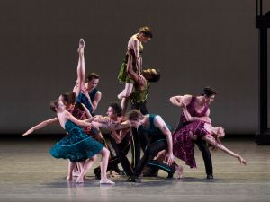 The world premiere of ten in seven at City Ballet's Fall Gala 2016, with choreography by Peter Walker and music by Thomas Kikta.