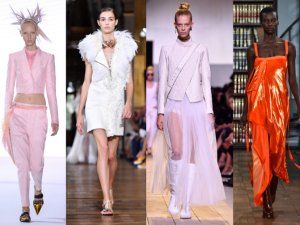 From left to right: Gucci, Haider Ackermann, Lanvin, Dior, Sies Marjan, Monse.