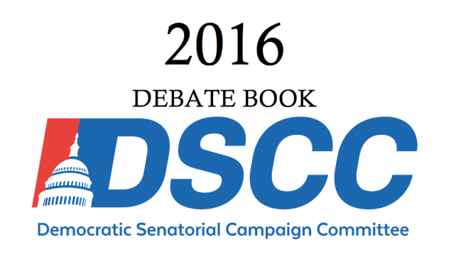 The cover of the 2016 DSCC Debate Book.