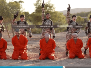 ISIS child fighters about to execute Kurdish captives.