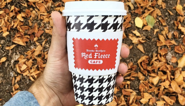 Houndstooth to-go cups