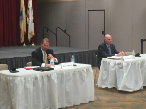 Monmouth County Sheriff Shaun Golden debates Democratic challenger Jeff Cantor.
