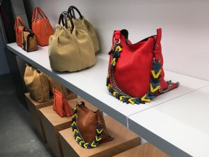 Bags at the Loewe outlet.
