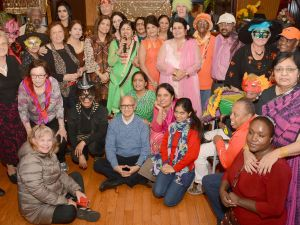 Seniors at the Catholic Charities Brooklyn and Queens Seaside Senior Center's Halloween and Diwali celebration.