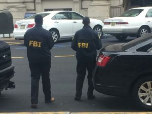 FBI agents were spotted at Paterson City Hall.