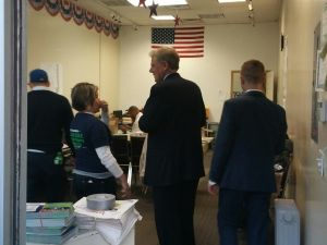 Pallone in Perth Amboy on Election Day.