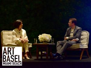 Paloma Picasso, Chris Bollen== Interview & Tiffany & Co. Host a Conversation with Paloma Picasso== 1 Hotel South Beach, Miami, FL== November 29, 2016== ©Patrick McMullan== photo - Sean Zanni/PMC== == Paloma Picasso; Chris Bollen