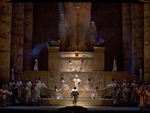 "A scene from Verdi's ""Aida"". Photo:"