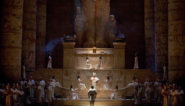 "A scene from Verdi's ""Aida"". Photo:"