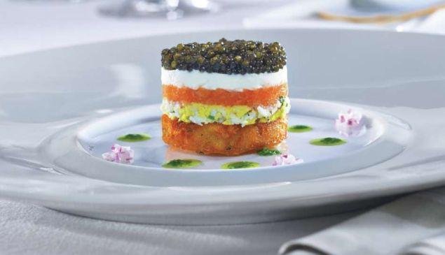 Michael Mina's caviar parfait is a fantastic way to celebrate.
