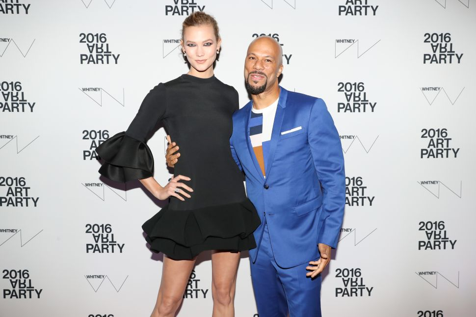 Karlie Kloss, Common, Brandon Maxwell Party at The Whitney Museum