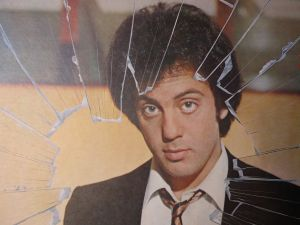 Billy Joel on the back cover to Glass Houses.