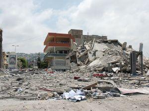 Bombing of civilian neighborhood in Syria.