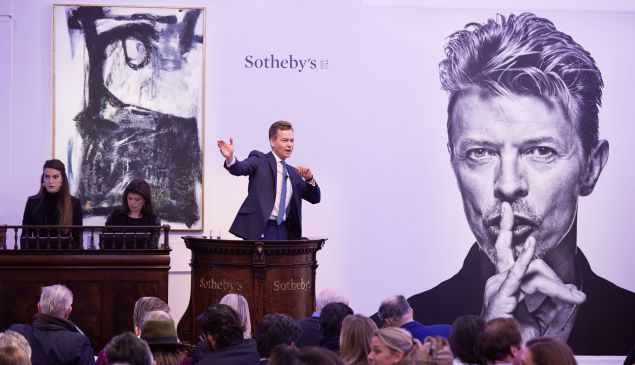 Sotheby's auctioned off the collection of David Bowie on November 10.