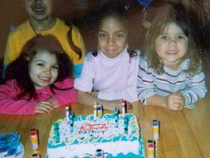 "Destiny (center) on her 6th birthday with her Long Island ""cousins"""