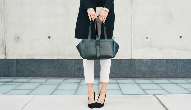 Senreve Doctor Bag in Forest Green.