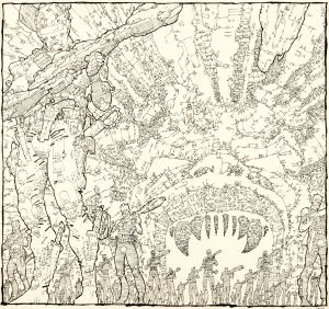 Frank Miller, A Benefit Portfolio In Defense of the First Amendment, Unpublished 'Ronin #4' Cover Original Art, (DC/CBLDF, 1987).