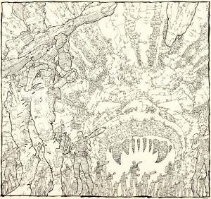Frank Miller, A Benefit Portfolio In Defense of the First Amendment, Unpublished 'Ronin #4' Cover Original Art, (DC/CBLDF, 1987).