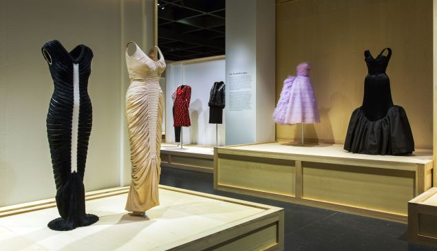 Dresses on display at The Met.