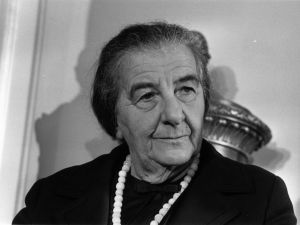 5th November 1970: Israeli Prime Minister Golda Meir (Golda Mabovich, 1898 - 1978) at a London Press Conference.