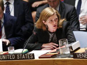 Samantha Powers, United States Ambassador to the United Nations.