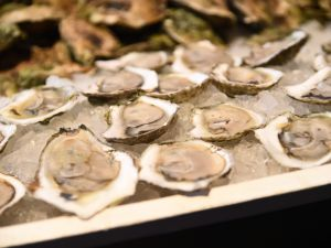 Noank oysters are being served, at the Farm2Fork Festival presented by Rodale's Organic Life on October 24, 2015 in Brooklyn City.