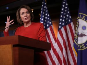 House Minority Leader Rep. Nancy Pelosi speaks to members of the media on Capitol Hill October 19, 2016 in Washington, DC. Pelosi held her weekly news conference to answer questions from the media.