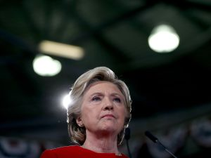 Democratic presidential nominee former Secretary of State Hillary Clinton speaks during a campaign rally at Kent State University on October 31, 2016 in Kent, Ohio.
