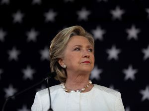 Democratic presidential nominee former Secretary of State Hillary Clinton speaks during a campaign rally at Pasco-Hernando State College East Campus on November 1, 2016 in Dade City, Florida. With one week to go until election day, Hillary Clinton is campaigning in Florida.