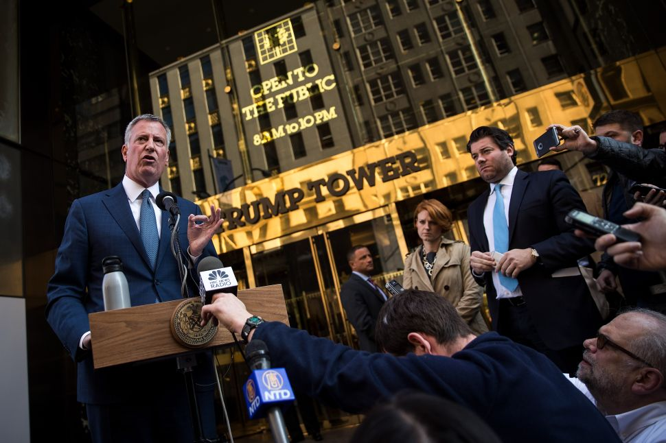 De Blasio Vows to Use NYC Government to Try to Force Trump to Reveal His Tax Returns